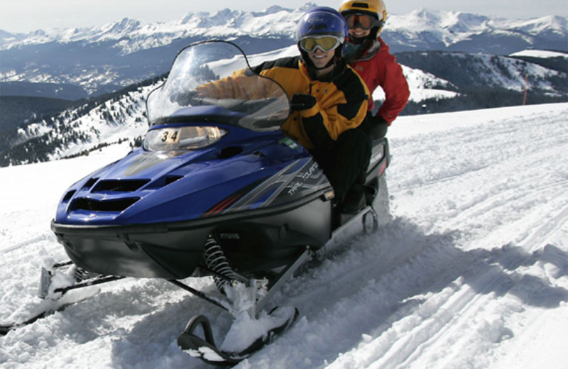 Snowmobiling at The Charter at Beaver Creek.