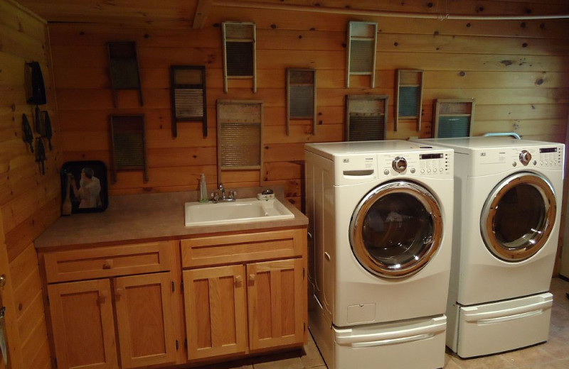 Cabin laundry room at Elk Ridge Ranch.