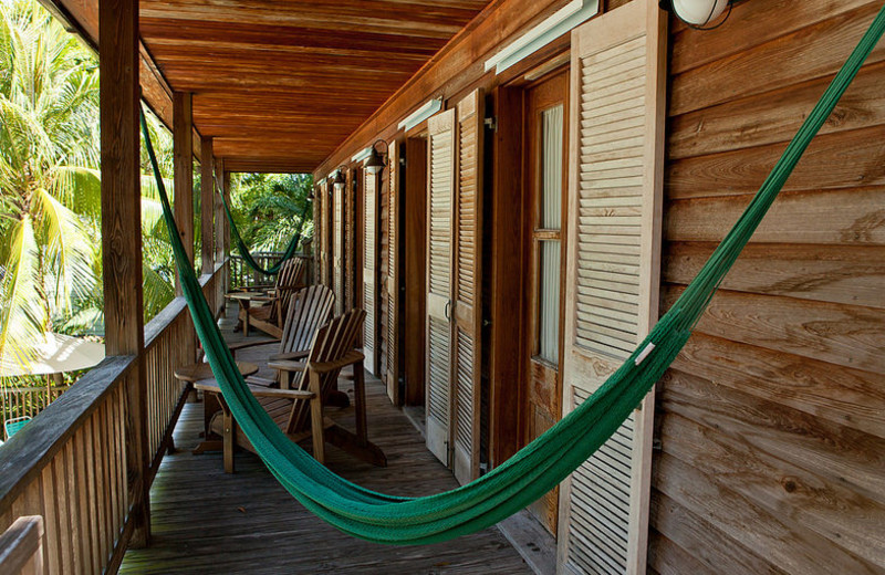 Private deck at Island City House Hotel.