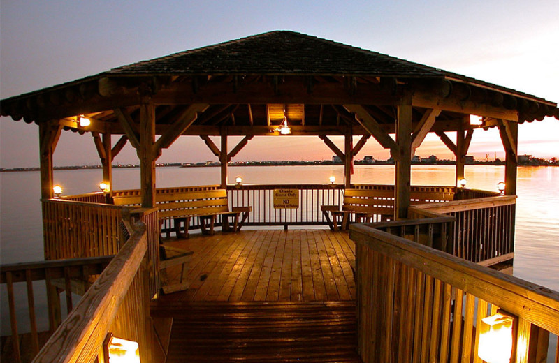 Fishing dock at Oasis Suites.