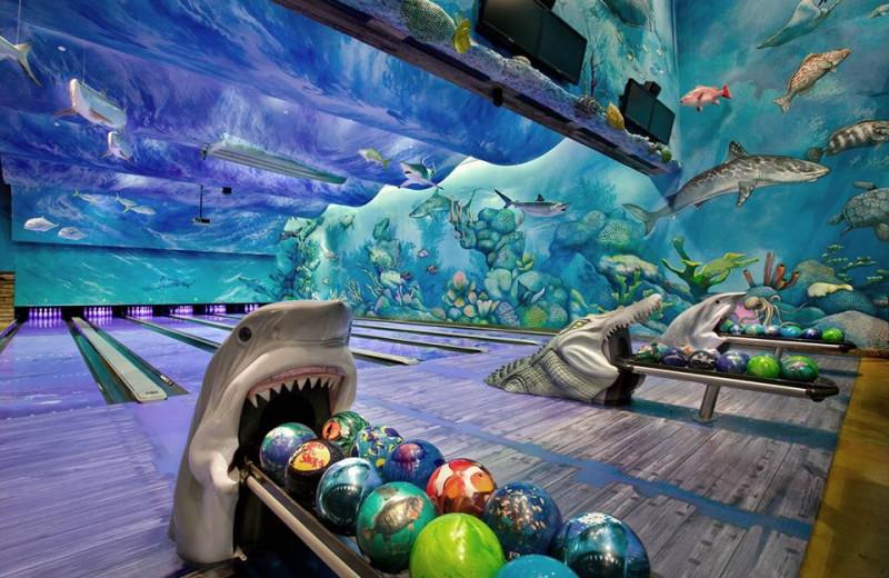 Bowling alley at Big Cypress Lodge.