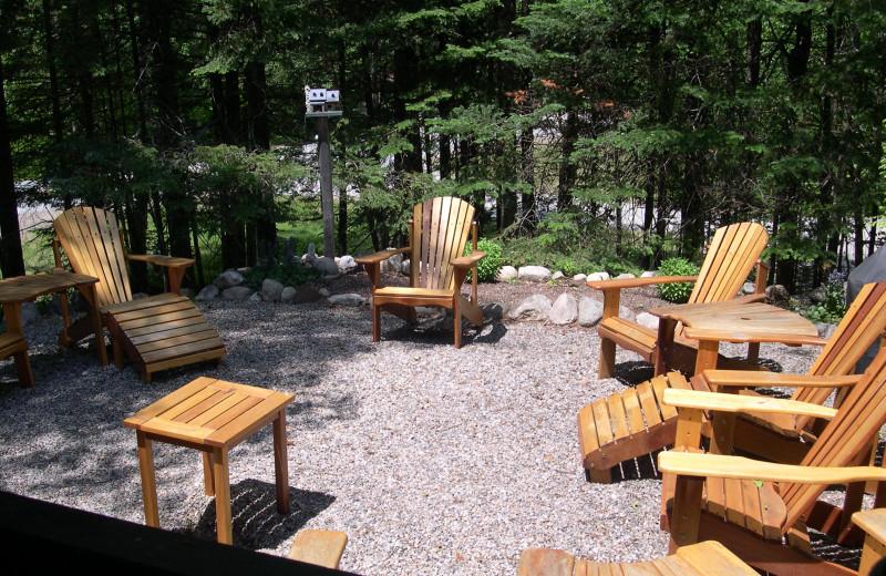 Lounge chairs at Village Condominium.