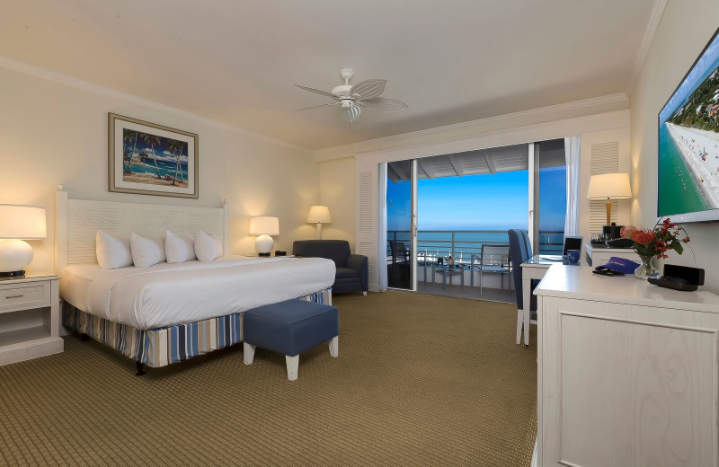 Guest room at South Seas Resort.