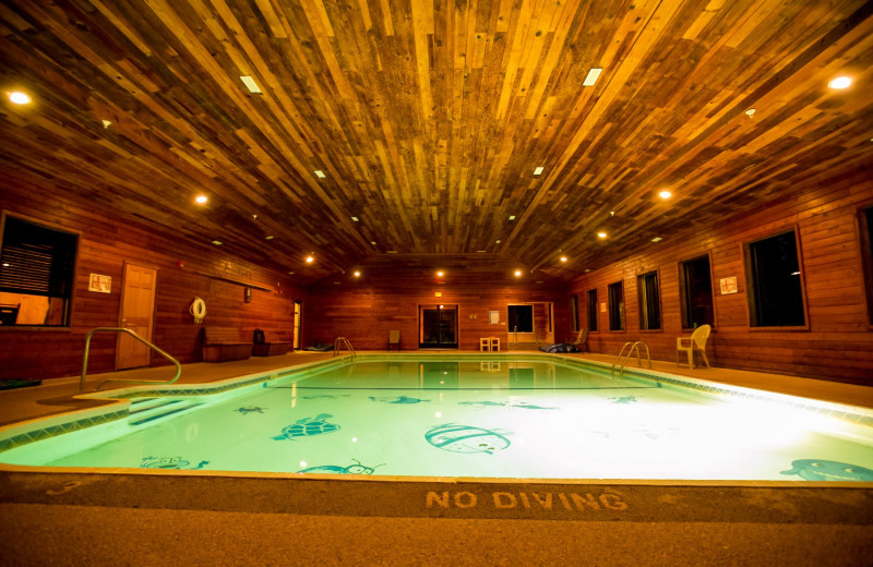 Indoor pool at Hiawatha Beach Resort.