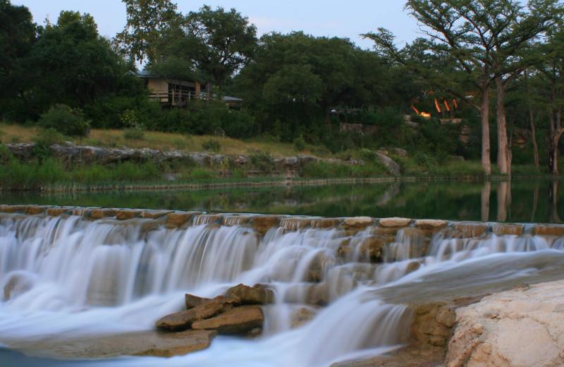 Waterfall at Joshua Creek Ranch.