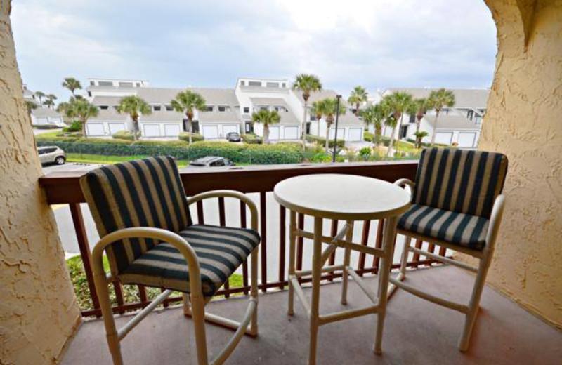 Guest balcony at St. Augustine Ocean & Racquet Resort.