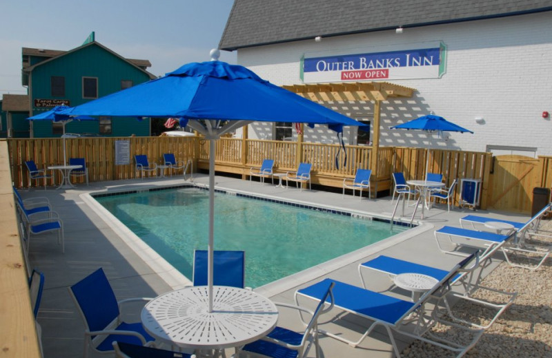 Outdoor pool area at Outer Banks Inn.