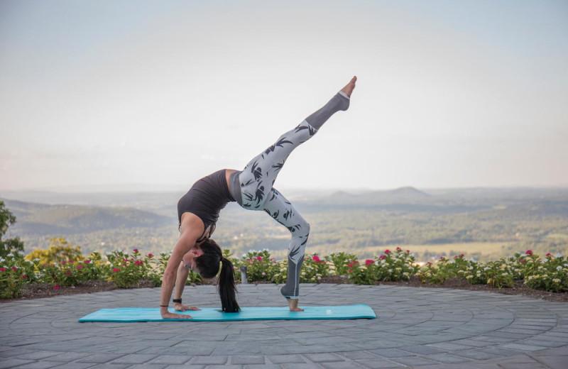 Yoga at Mountain Creek Resort.