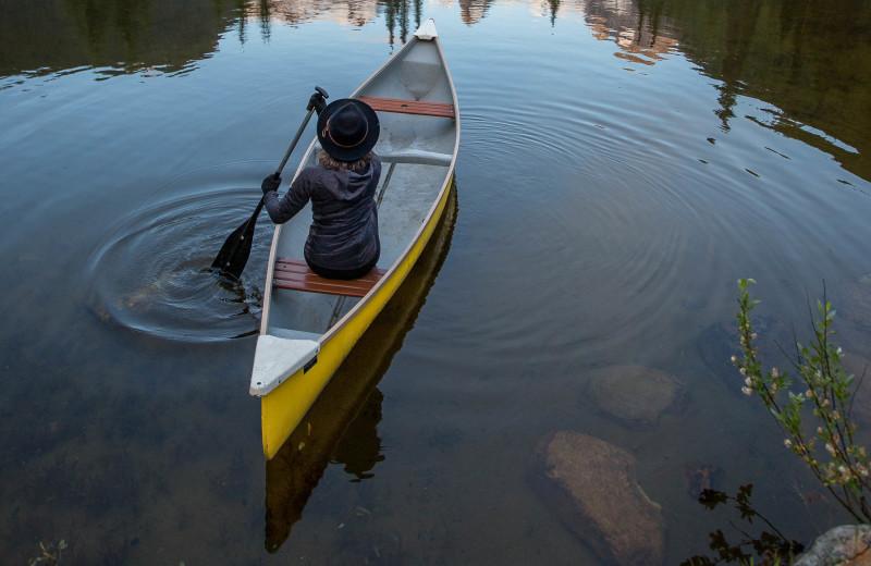 Canoe at CMH Bugaboos Lodge.