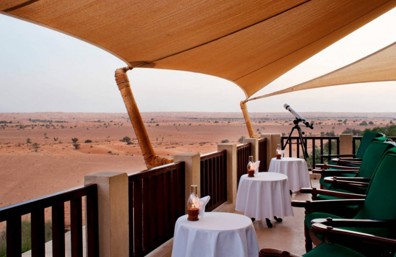 Dining at Al Maha Desert Resort.