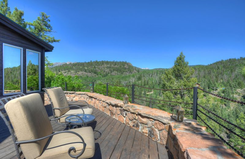 Rental deck at Hill Country Lake House.