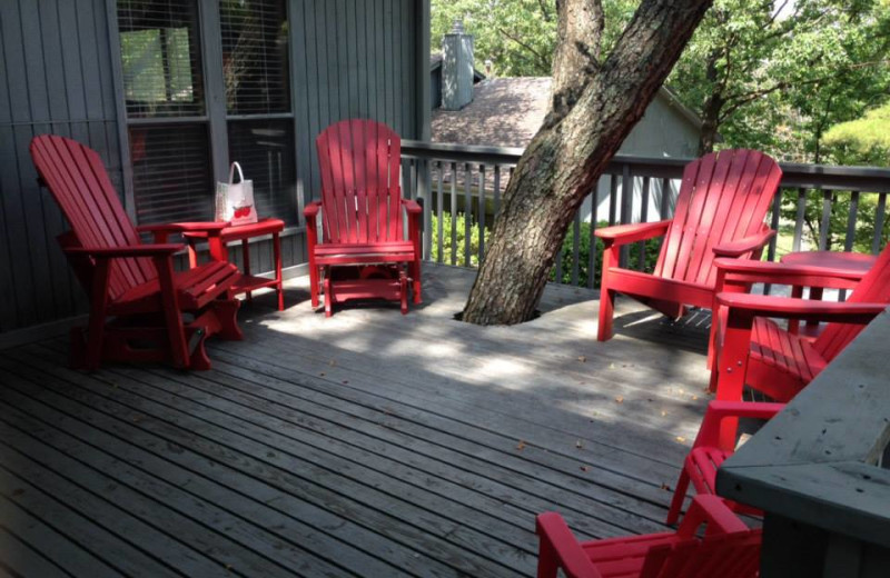 Rental patio at Red Apple Inn and Country Club.