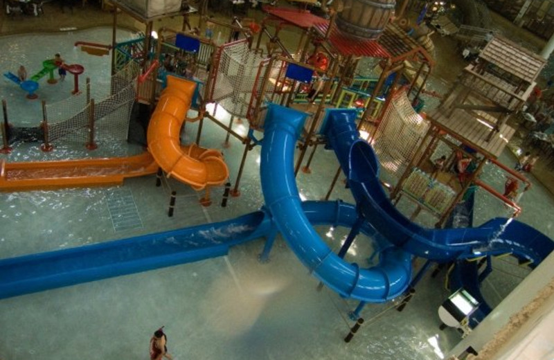 Indoor water park at Water Park of America.