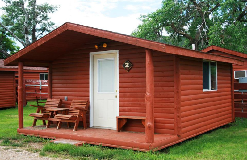 Cabin exterior at No Name City Luxury Cabins.