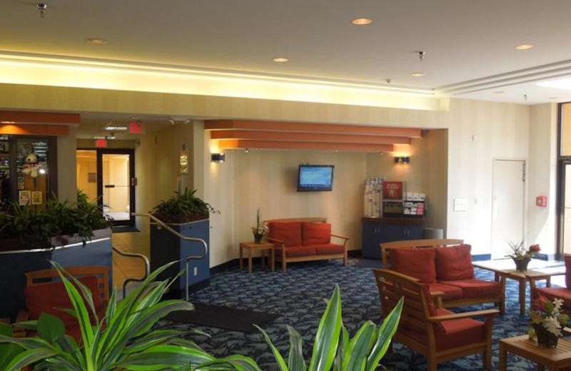 Lobby view at Sandcastle Suites.