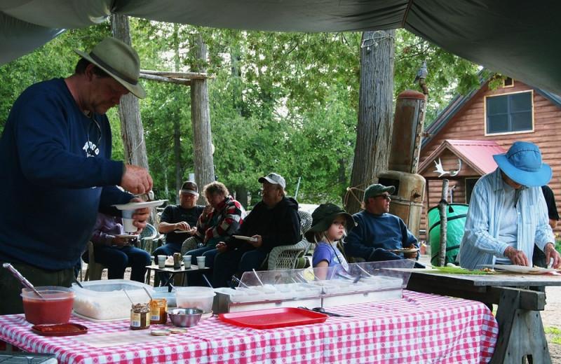 Family picnic at Heston's Lodge.