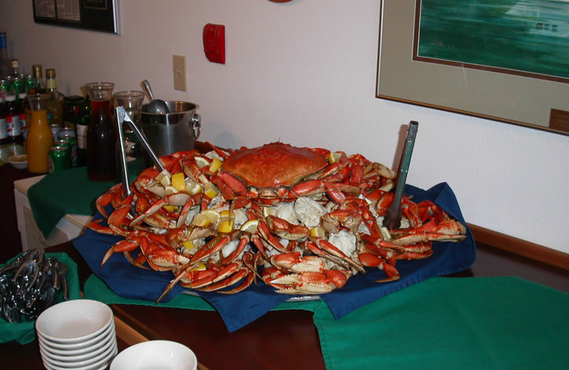 Fresh crab at Sportsman's Cove Lodge.