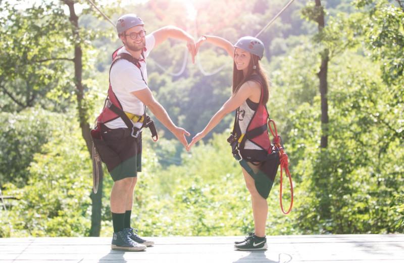 Couple at Mountain Creek Resort.