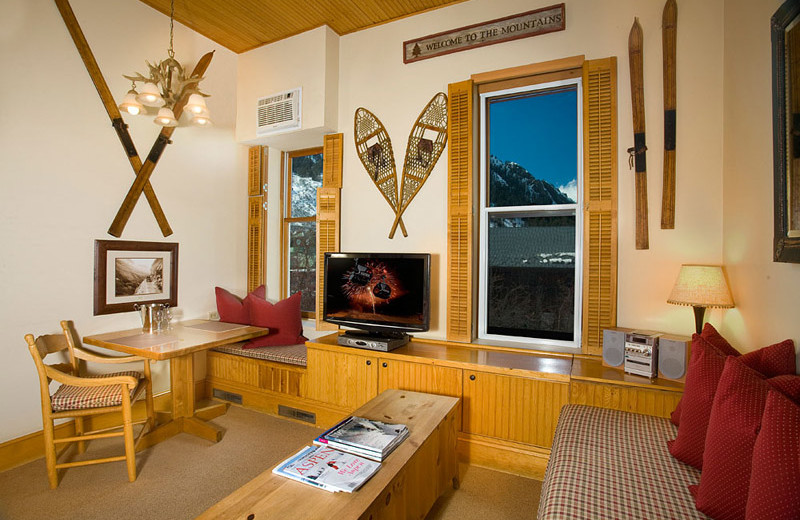 Rental living room at Frias Properties of Aspen - Independence Square.