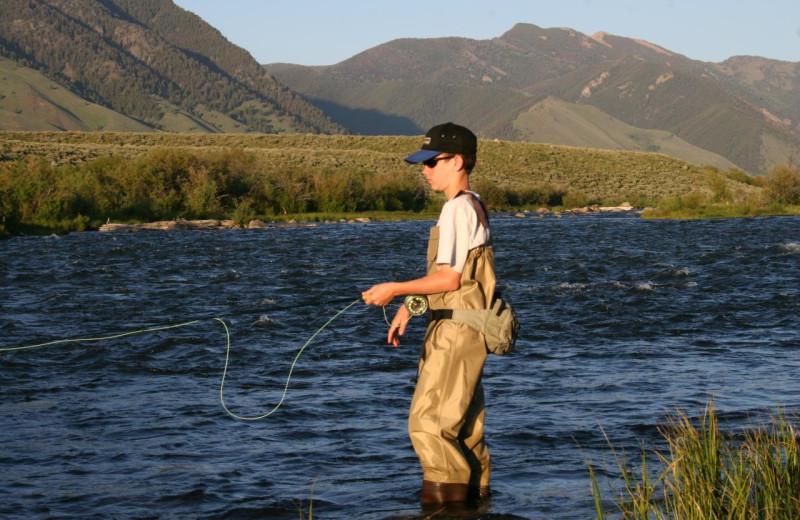 River fishing at Madison Management.