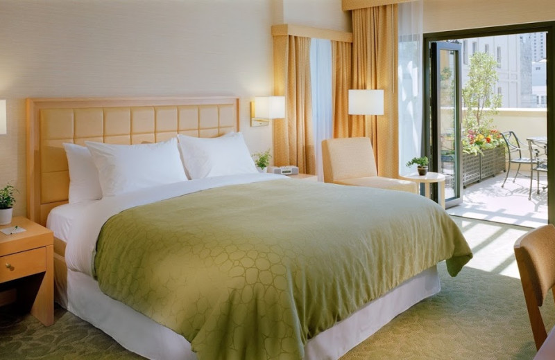 Guest room at Orchard Garden Hotel.