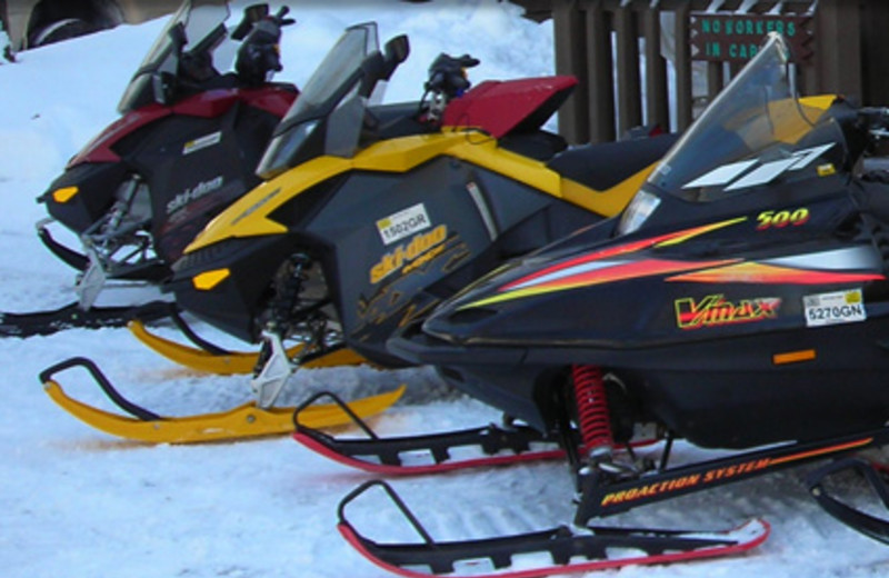 Snowmobiling at  Fox Hollow Lodge