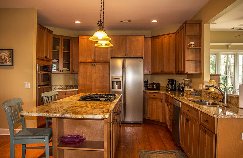 Rental kitchen at Fripp Island Golf & Beach Resort.