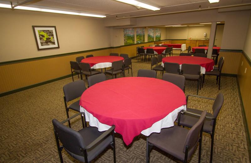 Meeting room at Black Bear Lodge.