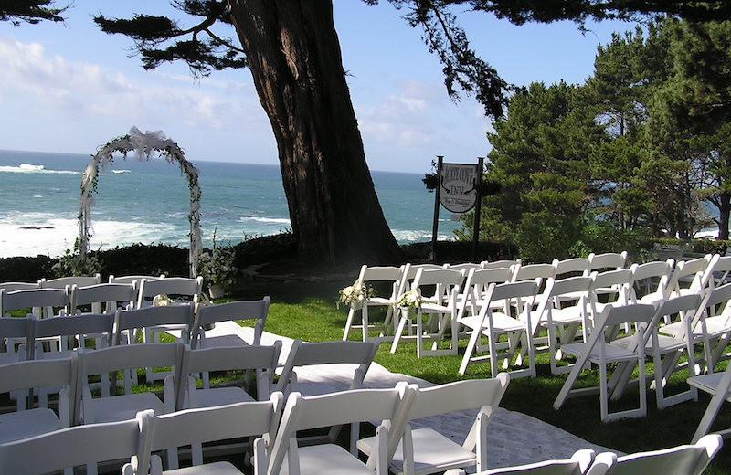Wedding at Agate Cove Inn.