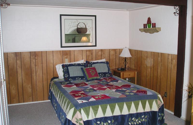 Guest room at Dorrington Inn.