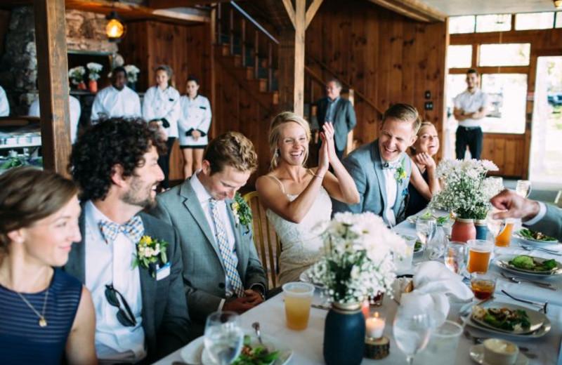 Wedding reception at Linekin Bay Resort.