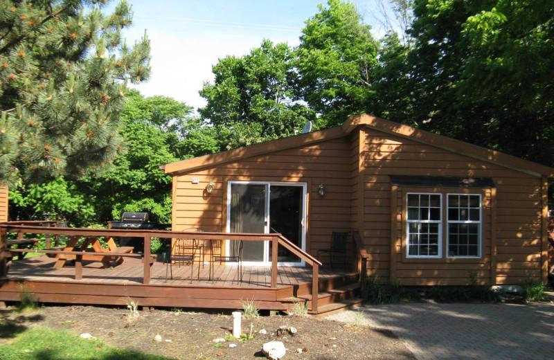 Cabin exterior at Island Club Rentals.