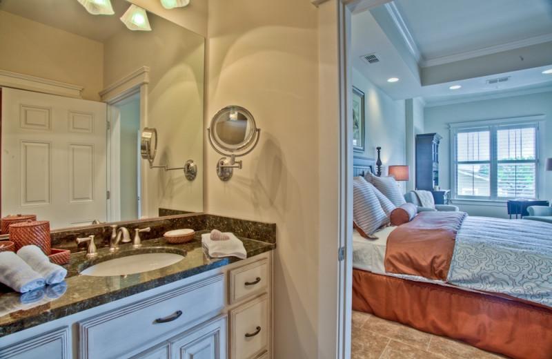 Guest bathroom at Sea Gate Inn.