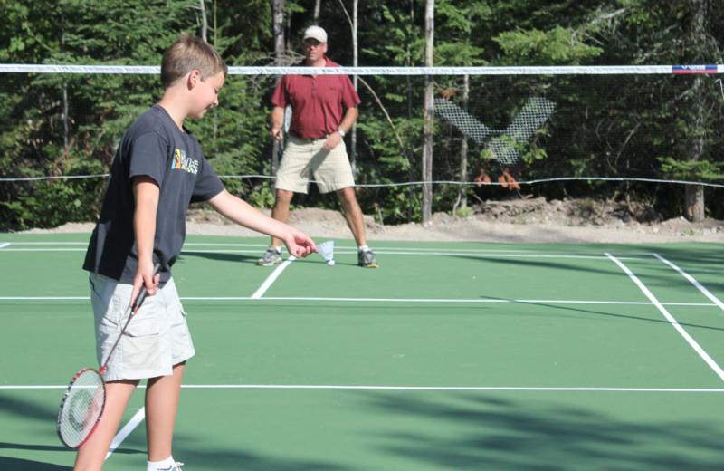 Badminton at Pehrson Lodge Resort