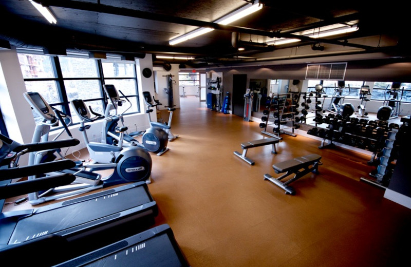 Fitness center at Solara Resort & Spa.