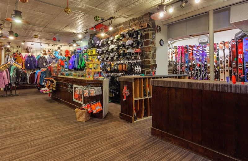 Ski shop at Alta's Rustler Lodge.