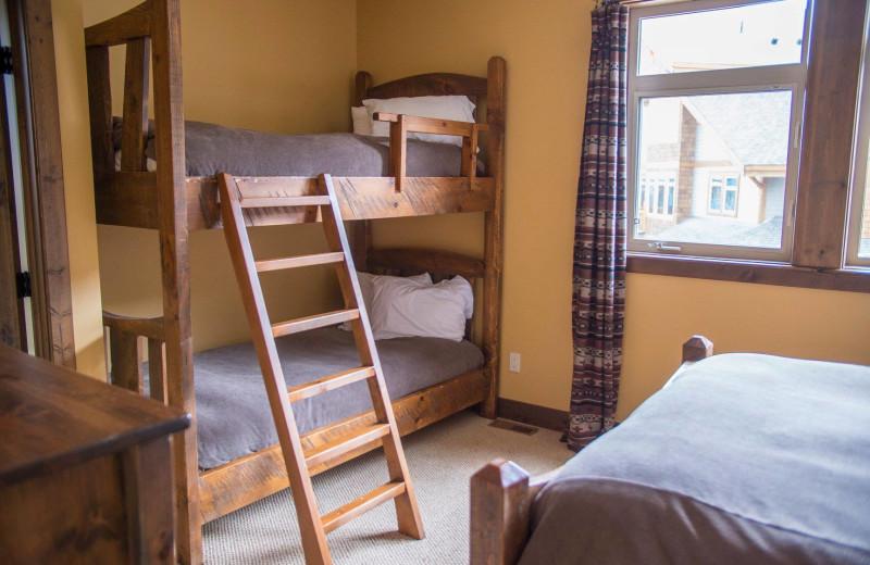 Guest bedroom at Northstar Mountain Village Resort.