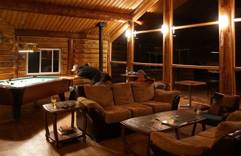 Lodge interior at Arctic Lodges.