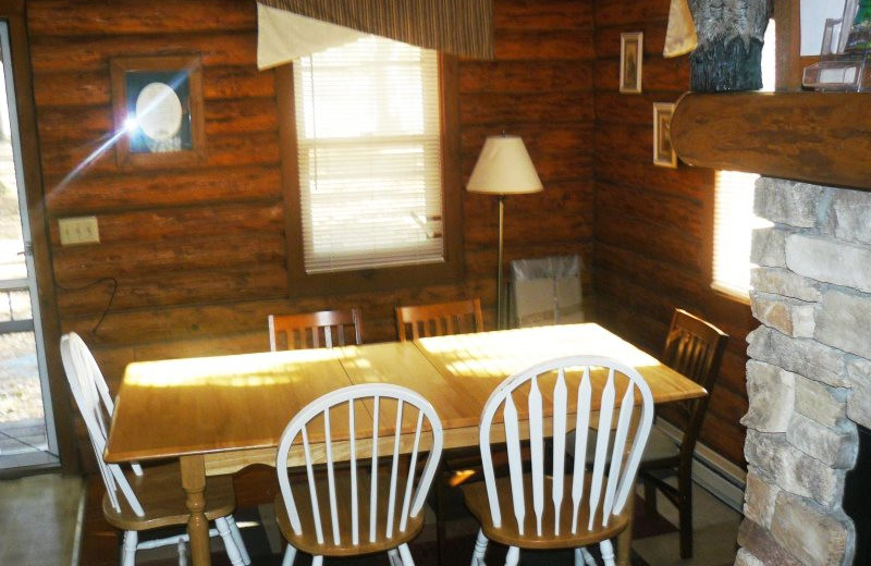 Rental dining room at Sand County Service Company - Little Ponderosa.