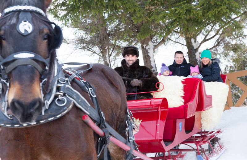 Sleigh ride at Fairmont Le Manoir Richelieu.