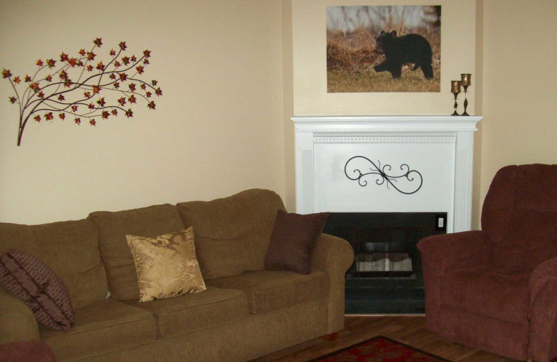 Rental living room at Olde Gatlinburg Rentals.