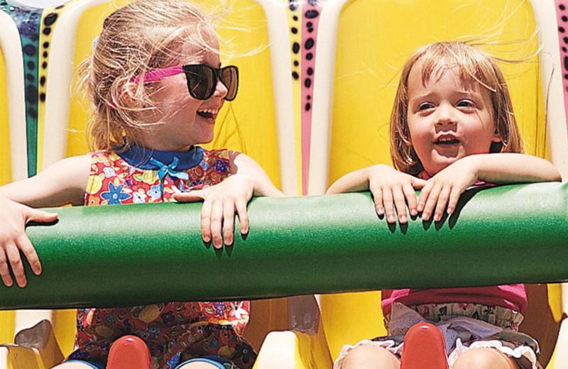 Kids rides at Cedar Point Resort.