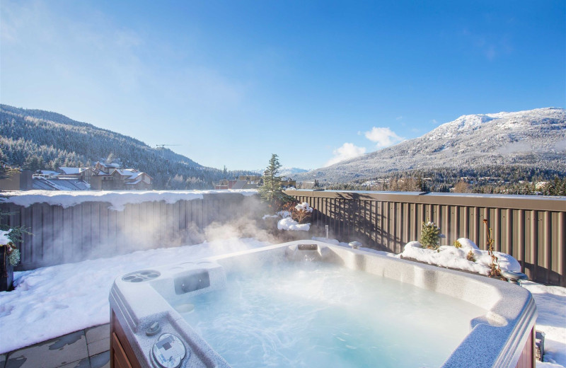 Guest hot tub at Sundial Boutique Hotel.