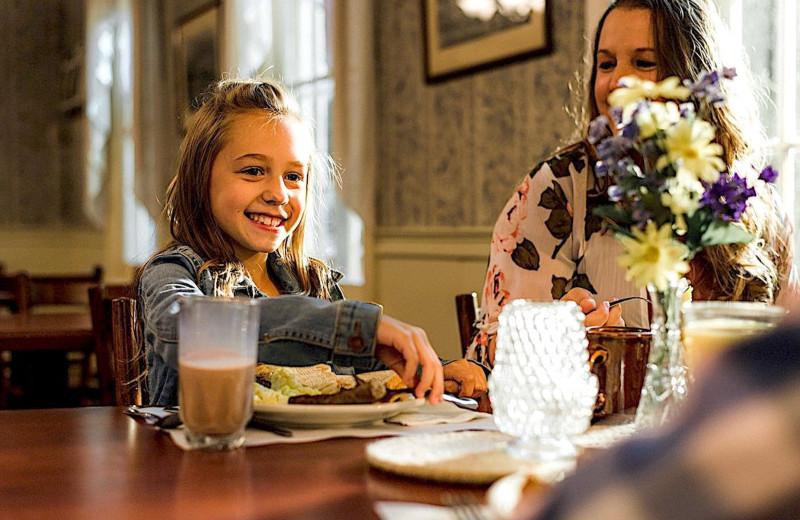 Dining at Winter Clove Inn.