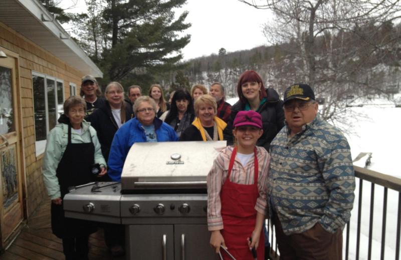 Family BBQ at Lac La Belle Lodge.