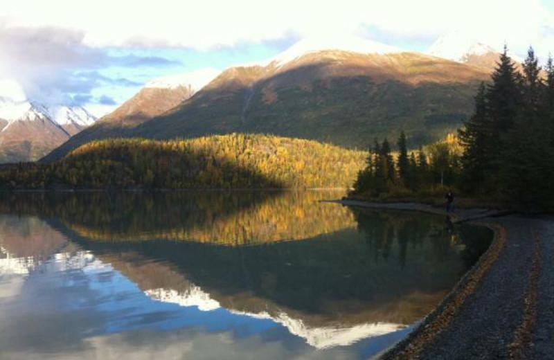 Mountains at Trail Lake Lodge.