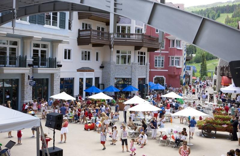 Summer festival at Arrabelle at Vail Square.