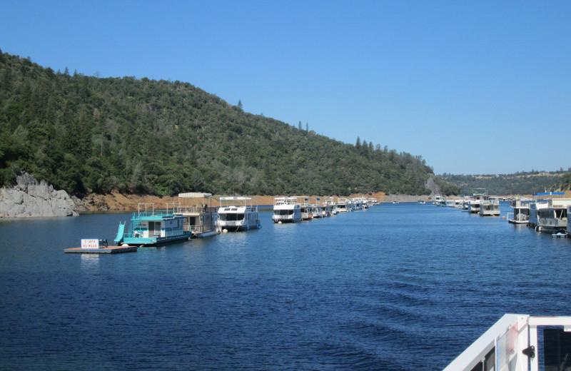 The marina at Lake Oroville.