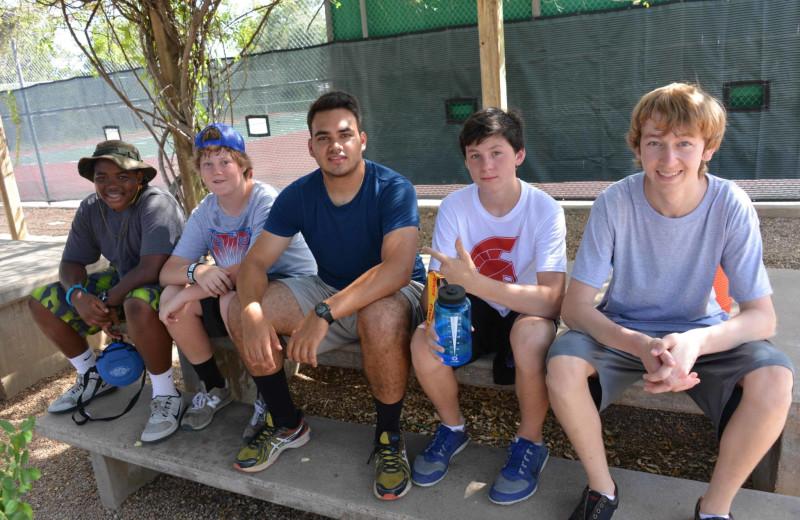 Boys group at Camp Balcones Spring.
