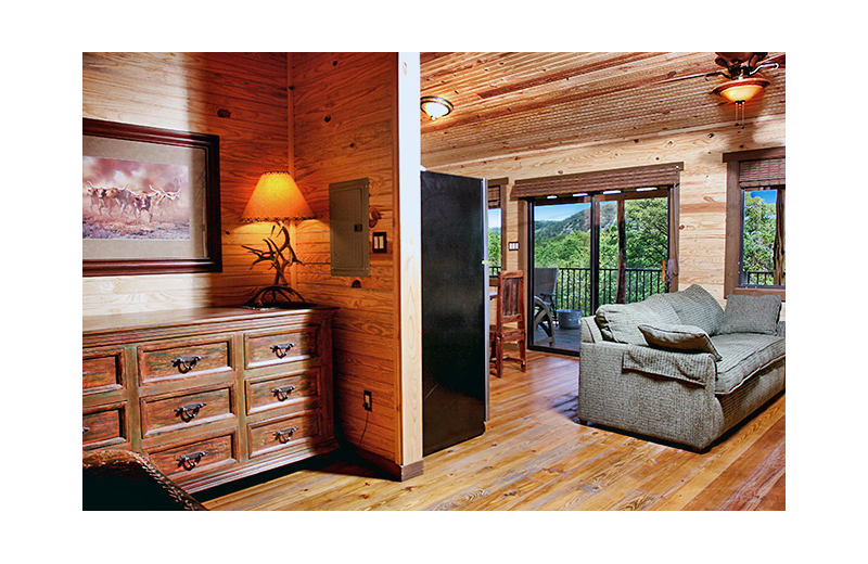 Guest room at Hideout on the Horseshoe.